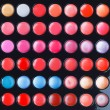 Colorful makeup palette. Makeup background - Stock Photo