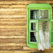 Stock Photo: Wooden vintage green window
