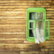 Wooden vintage green window — Stock Photo