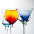 Set of colorful cocktail glasses — Stock Photo