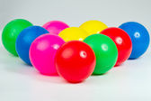 A set of colorful plastic balls — Stock Photo