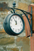 Vintage street clock — Stock Photo