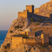 Medieval Genoese fortress on the shore of the Black Sea — Stock Photo