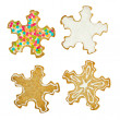 Set of Christmas snowflakes cookie — Stock Photo