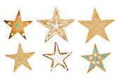 Set of star-shaped cookie — Stock Photo