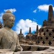 Buddha in Borobudur Temple — Stock Photo
