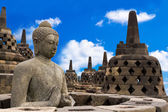Buddha in Borobudur Temple — Foto Stock
