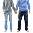 Man and woman holding hands together — Stock Photo #37742889