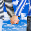 Man and woman holding hands together — Stock Photo #37742925