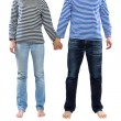 Man and woman holding hands together — Stock Photo #37743081