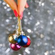 Christmas disco balls — Stock Photo #37744929