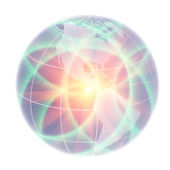 Abstract globe focusing on North America and South America illum — Stock Photo