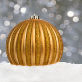 Golden Christmas ball — Photo