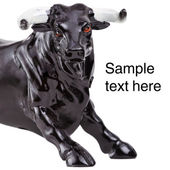 Bull sculpture — Stock Photo