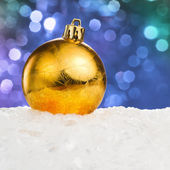 Golden Christmas ball — Stock fotografie