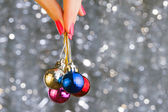 Christmas disco balls — Stock Photo