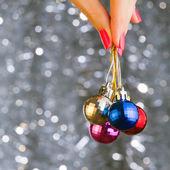 Christmas disco balls — Stock Photo