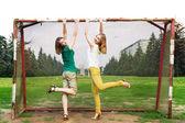 Young women having fun — Foto Stock