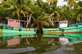 Indian fishing-boats — Stock Photo