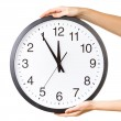 Stock Photo: Anti clockwise or counter clockwise time concept