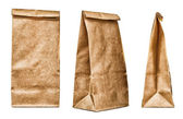 Brown textured paper bag — Stock Photo