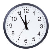 Clock face isolated on a white background — Stock Photo
