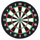 Darts board isolated on white background — Stock Photo