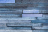 Vintage blue wooden wall background — Foto Stock