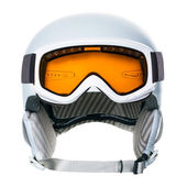 Helmet and goggles isolated on a white background — Stock Photo