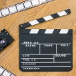 Movie production clapper board — Stock Photo #48598069