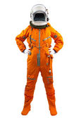 Astronaut wearing space suit — Stock Photo