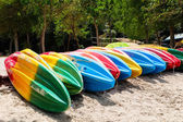 Bright kayaks — Stock Photo