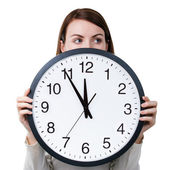 Time management for woman — Stock Photo