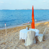 Romantic beach restorant — Foto de Stock