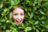 Face with plants — Stock Photo