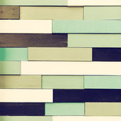 Vintage tiled wooden wall — Stock Photo