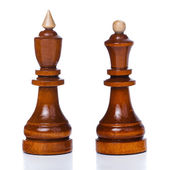 King and queen chess pieces — Stock Photo
