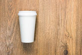 Top view of a blank coffee cup — Stockfoto
