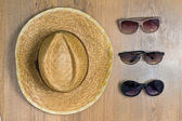 Braided hat and glasses — Stockfoto