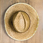 Top view of braided hat — 图库照片