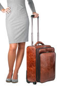 Young woman travelling on business. — Stock Photo