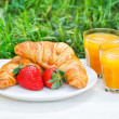 Breakfast outdoors — Stock Photo #48602435