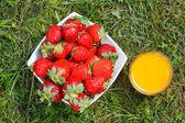 Strawberries and juice — Foto Stock