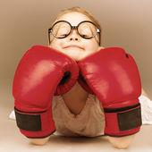 Boxing kid — Stock Photo