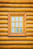 Wooden wall with window — Stock Photo