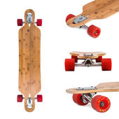 Longboard skateboard set — Stock Photo