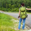 Woman with backpack — Stock Photo #50210817