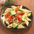 Постер, плакат: Pasta with Zucchini and Tomato