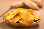 Sweet Potato Chips — Stock Photo