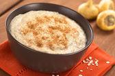 Maca-Oatmeal Porridge with Cinnamon — Stock Photo